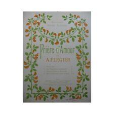 FLEGIER A. Prière d'Amour piano partition sheet music score