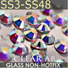 Glass Crystal AB Non Hotfix Flatback Rhinestones SS12, SS16, SS20 Nial Art