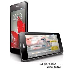 10 Pellicola OPACA per LG Optimus G E975 E973 Protettiva Pellicole ANTIMPRONTA