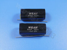 2pcs For WEAH 250V 1.5uF MKP Crossover Polypropylene Non-Polarity Capacitor
