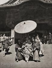 1929 JAPAN Original Photo Gravure NARITA BUDDHIST Priest Spiritual Art, FELLNER