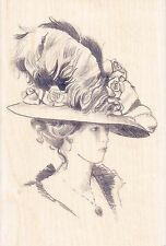 Victorian Lady in Fancy Hat Inkadinkado Rubber Stamps  ~ w/m Free Shipping NEW
