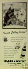 1953 Scottish Terrier Westie B&W Scotch Whisky Art Ad