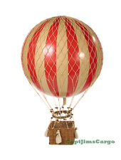 """Xl Hot Air Balloon Red & White Striped 17"""" Ceiling Hanging Aviation Home Decor"""