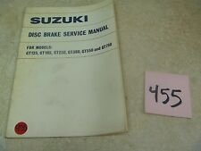 Suzuki GT750 GT550 GT380 GT250 Used OEM Disc Brake Service Manual #VP-MAN455