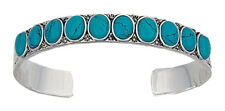 Montana Silversmiths - Canyon Colours Turquoise Silver Cuff - ( BC1398TQ )