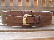"Gun Belt -2 1/2"" wide - Brown Color - Leather - Sizes 34"" to 52'"