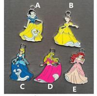 20pcs Cartoon princess Enamel Metal Charms Pendants DIY Jewelry Making