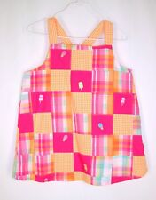 Gymboree Patchwork Top sz 9 Popsicle Party Sleeveless Summer Orange Pink