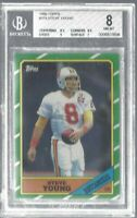 Steve Young 1986 Topps Rookie card BGS NM-MT 8 Tampa Bay NFL!!