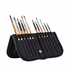 MEEDEN 11 X 10.5 Inch Mesh Paint Brushes Case Zippered Brush Holder,Short Handle