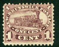 Canada 1860 New Brunswick 1¢ Train Scott #6 Brown Violet VFU F291 ⭐⭐⭐⭐⭐⭐