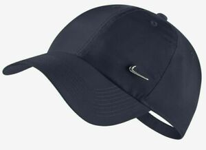 NikeYOUTH Heritage 86 Metal Swoosh Logo Sportswear Adjustable Cap Hat Navy
