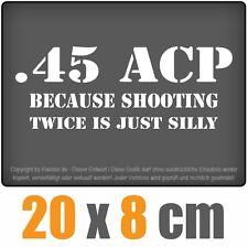 45 ACP 20 x 7,6 cm JDM decal Sticker Adhesivo racing blanco, arandelas pegatinas