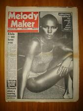 MELODY MAKER 1980 AUG 23 GRACE JONES LENNON IN STUDIO