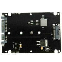 Black B+M key Socket 2 M.2 NGFF (SATA) SSD to 2.5 SATA Case Card Adapter M5L4