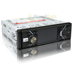 """Power Acoustik 1 DIN Receiver Bluetooth MP3 USB In Dash 3.4"""" LCD Display PD-348B"""