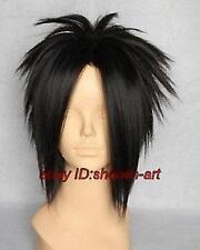 Sasuke courte perruque noir partie cosplay .+ gratuit hairne