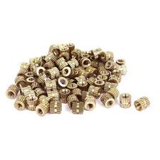M3x5 mm (L) -5mm (OD) Metrisch Gewinde Messing Knoten Runde Einsetzmuttern 100 S