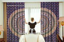 Indian Elephant Mandala Design Curtain Window Door Wall Hanging Boho Hippie Set