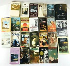 Huge Lot of 25 Vintage Classic Paperback Novels: Twain Bronte Hardy Stoker