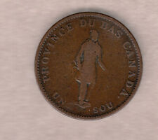 1837 Lower Canada Half Penny Token City Bank ~ Very-Good Condition!