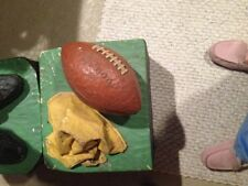 Football referee with flag&football. Signed by artist, about 6� tall