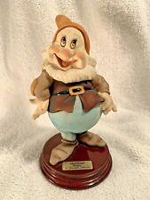 HAPPY 1995 Disney Signed GIUSEPPE ARMANI Italy Figurine Statue 0327C Mint Rare