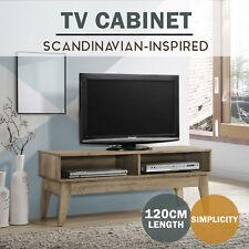 MEYA Modern TV Stand Entertainment Unit Scandinavian oak Shelf Scandi Cabinet