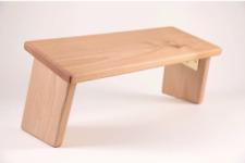 Meditation Kneeling Zabutons Bench Folding Legs Portable Alder Hardwood Angled