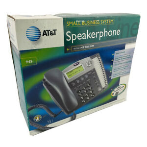 AT&T 945 Small Business 4-Line Speakerphone With Intercom Black LCD Display