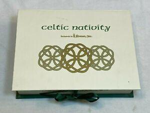 Celtic Christmas Nativity Roman Irish Ireland Holiday Resin 6 Pc Set in Box 2007