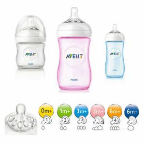 Avent Tettarelle in Silicone e Biberon Natural Plastica e vetro 0% BPA