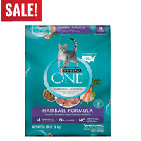 Purina ONE Hairball Formula Adult Dry Cat Food ,16 Lb bag FREE SHIPPING