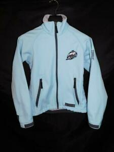 Alaska Aces Hockey S Light Blue Softshell Jacket Womens Zip Polar Bear Logo Sm