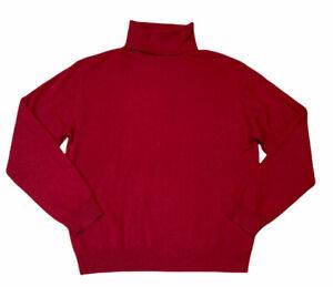 Geneva 100% Cashmere Turtleneck Pullover Sweater Women's Large Dark Red REPAIR