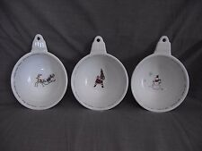Set of 3 Pottery Barn Holiday Cheer Handled Ornament Fruit Dessert Bowls