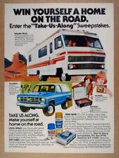 1979 Winnebago Brave RV Chevy Blazer Sweepstakes Lysol Wet Ones vintage print Ad