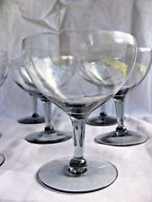 "LOT 8 CORDON BLEU ALL SMOKE GLASS Champagne Goblet 4 5/8"" CBC1 MOD Elegant"