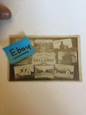 Old Postcard Vintage 1911 Callaway Nebraska Hangman Noose Downtown Photo RPPC