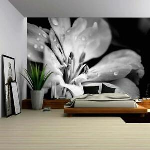 Wall26 - Flower with Raindrops - Canvas Art Wall Decor - 100x144 inches