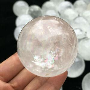 1pc Natural iceland spar Quartz sphere quartz Crystal Ball reiki Healing