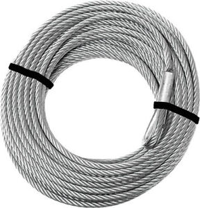 """KFI Steel Cable 2500-3500lb Winch Replacement Cable - 3/16"""" x 45.9'"""