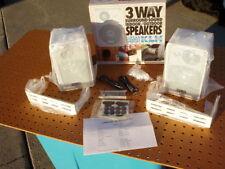 KLH 3 WAY SURROUND SOUND INDOOR OUTDOOR SPEAKERS 403W PAIR WHITE 40 WATT NEW
