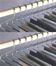 24 pezzi Set di staffe PANTALONE open end PANTS Easy Slide Guardaroba organizzatori
