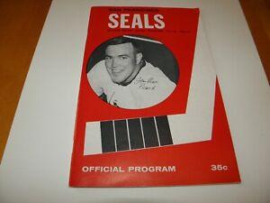 1965-66 San Francisco Seals Western Hockey League Program Jean Marc Picard VF+