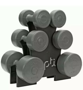 Dumbbell (15kg) 6 Piece Circular Vinyl WITHOUT Dumbbell Stand Tree Gym