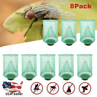 8 Pack The Ranch Outdoor Fly Trap - Killer Bug Cage Net Perfect For Horses USA