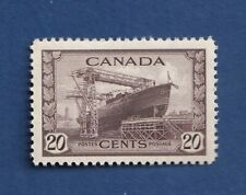 Canada stamps #260 War issue 20c chocolate color, Corvette VF /mnh