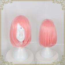 NARUTO Haruno Sakura Pink Anime Cosplay Costume Wig Hair Short +Wig Net